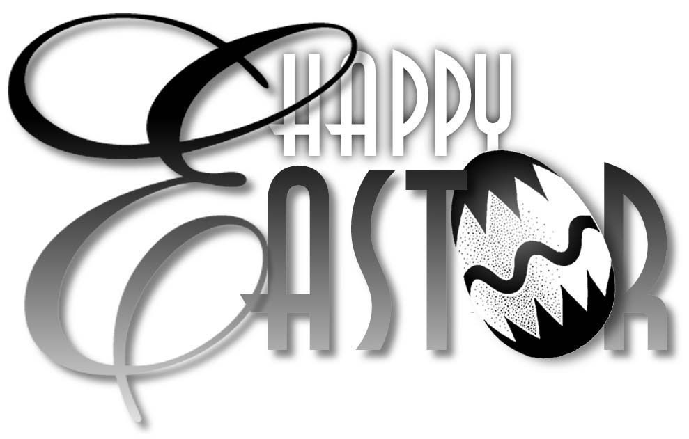 Free Black And White Easter Clipart Public Domain Holidayeaster