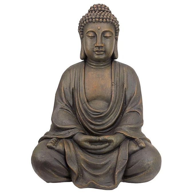 Design Toscano 26 In H X 20 In W Gray Buddha Garden Statue In The Garden Statues Department At Lowes Com