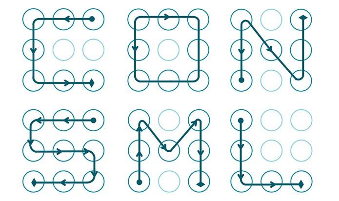 Se o seu padrão de desbloqueio é algum desses, é bom começar a pensar em algo diferente (Foto: Divulgação/Marte Loge)