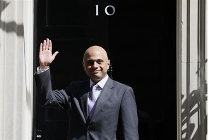 UK Business Secretary Sajid Javid