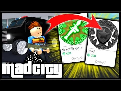 Buying The Swat Heavy Weapons Robux Packs Rpg Awp Mad City - i maxed out the new 3000000 fury in roblox mad city