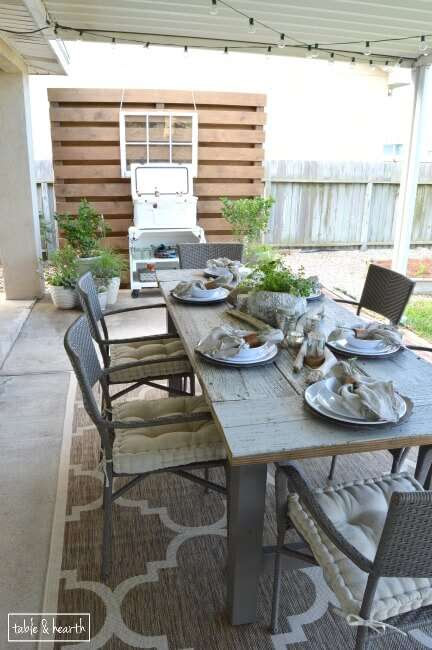 11 Budget friendly patio makeovers- Lots of affordable and inspiring decor and DIY ideas on how to easily update your backyard patio, deck, or entertaining outdoor space