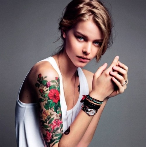Beautiful Girl With Sleeve Tattoo Tattoomagz