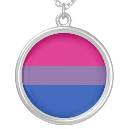 Bisexual Pride Flag Necklace