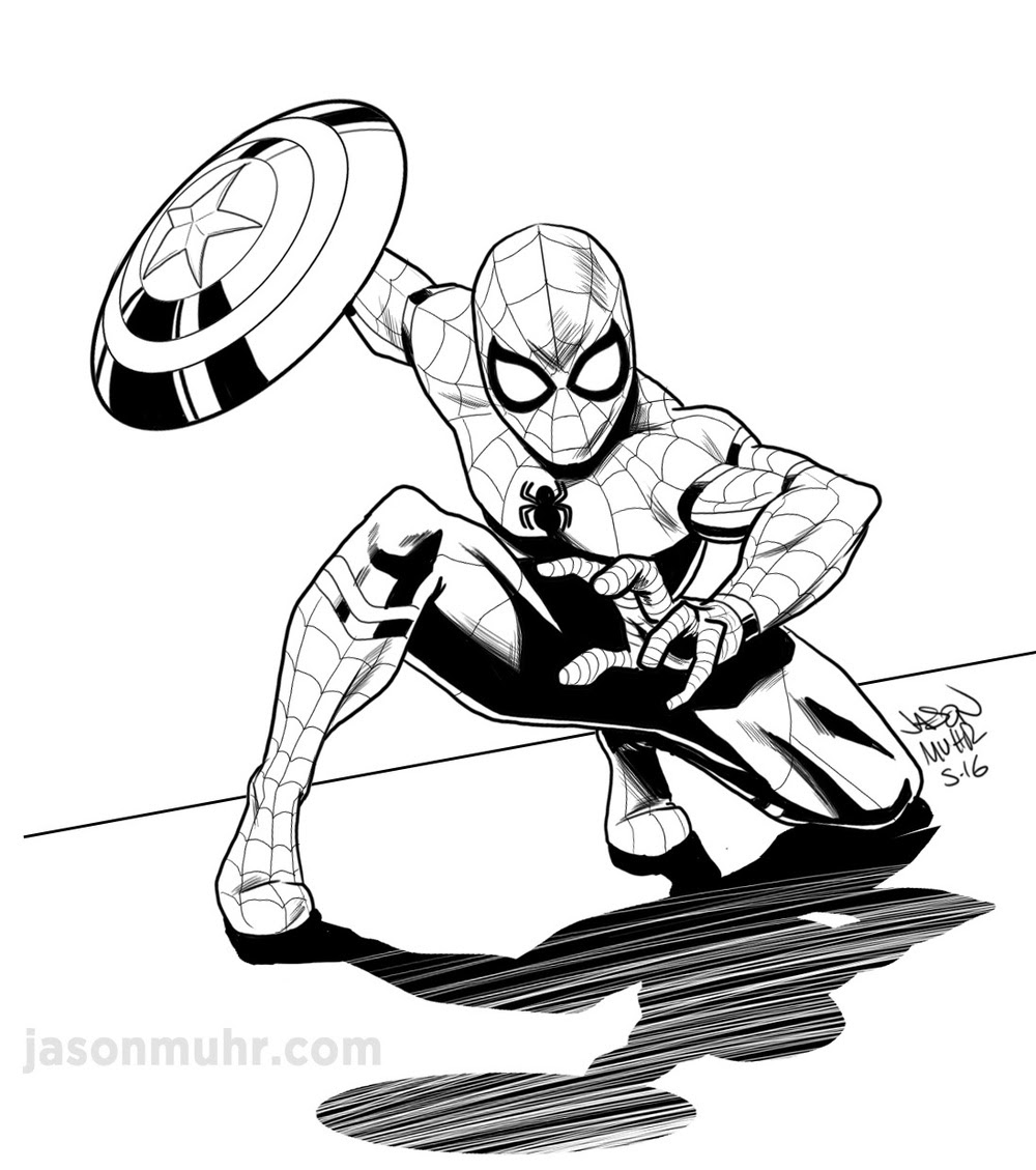 Spiderman Drawing Images at GetDrawings | Free download