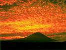 CLICK for more photos. ... Fuji and Mackerel Clouds