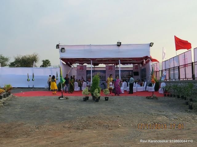 Pandal for the launch event of Belvalkar Kalpak Homes, 1 BHK & 2 BHK Flats at Kirkatwadi, Sinhagad Road, Pune 411024