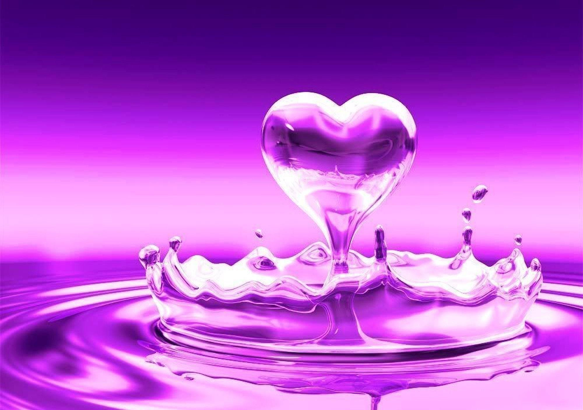 Purple Heart Wallpapers Wallpaper Cave