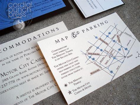 wedding invitation direction card with map   wedding