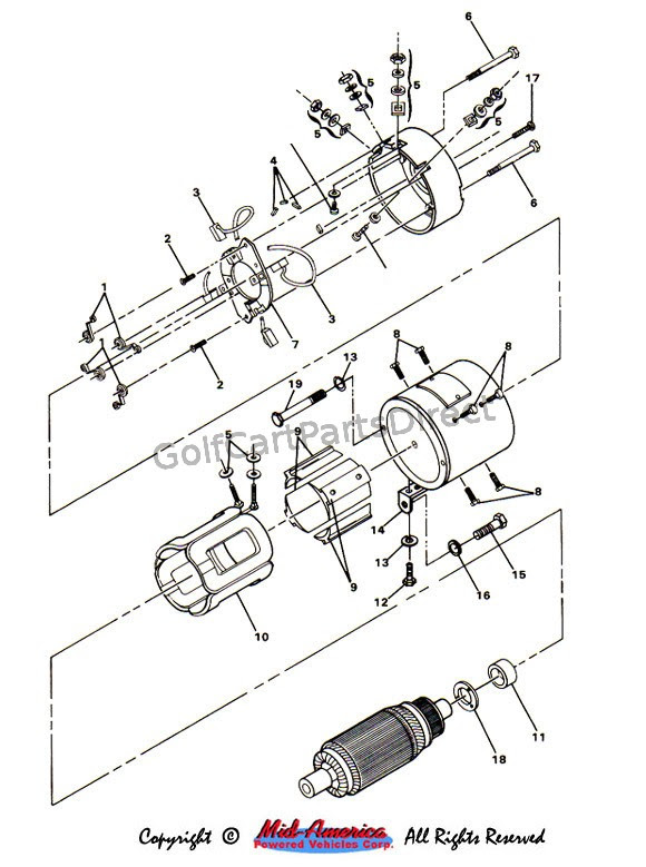 Basic Wiring Diagram For 1990 Electric Ezgo 36 Volt