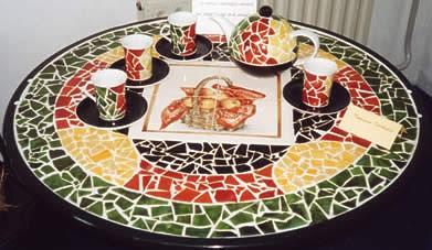 Effetto mosaico su porcellana