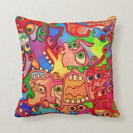 Stop the world, I want to get off! Throw Pillows