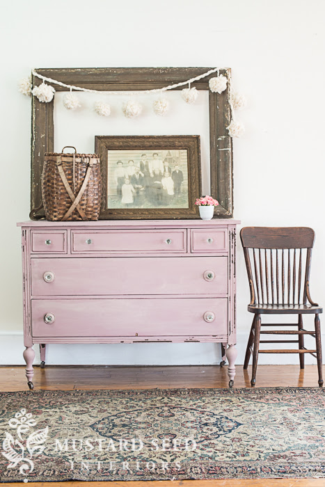 Arabesque Pink Painted Dresser from Miss Mustard Seed | Friday Favorites at anderson + grant