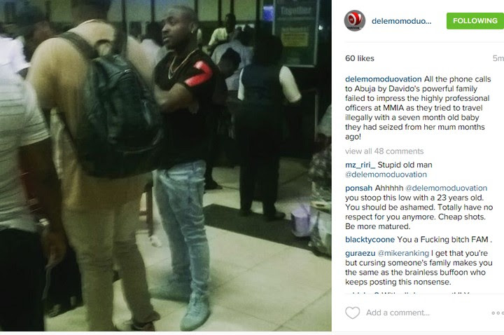 Dele Momodu Puts Davido On Blasts. Post Photos Of A Distraught Davido At The Air