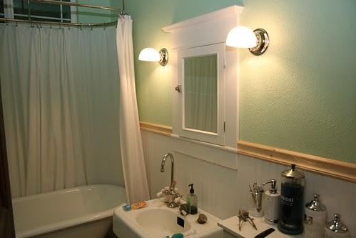 1915 Craftsman Bungalow Bathroom Wall Sconces