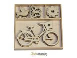 houten ornamenten bike - butterfly
