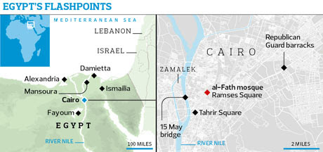Cairo and al-Fath mosque locator