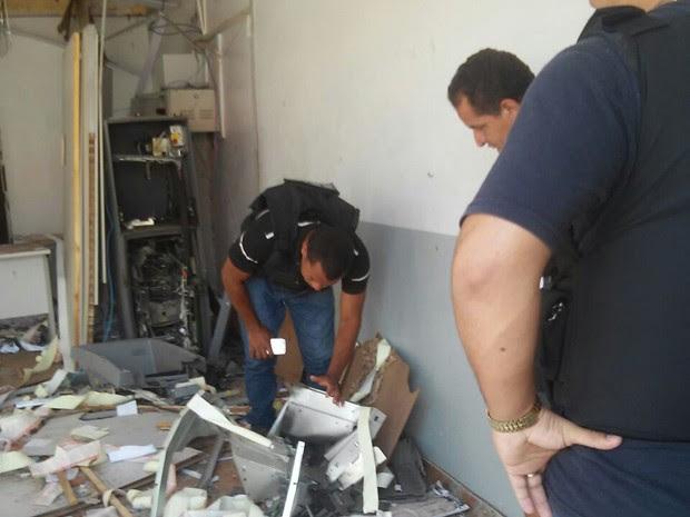 Agentes da Seic investigam explosão em caixas eletrônicos em São Luís Gonzaga do Maranhão