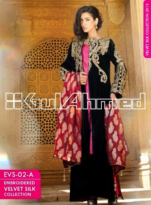 Mens-Women-Wear-Beautiful-Embroidered-Silk-Velvet-Long-Coats-by-Gul-Ahmed-New-Fashion-5