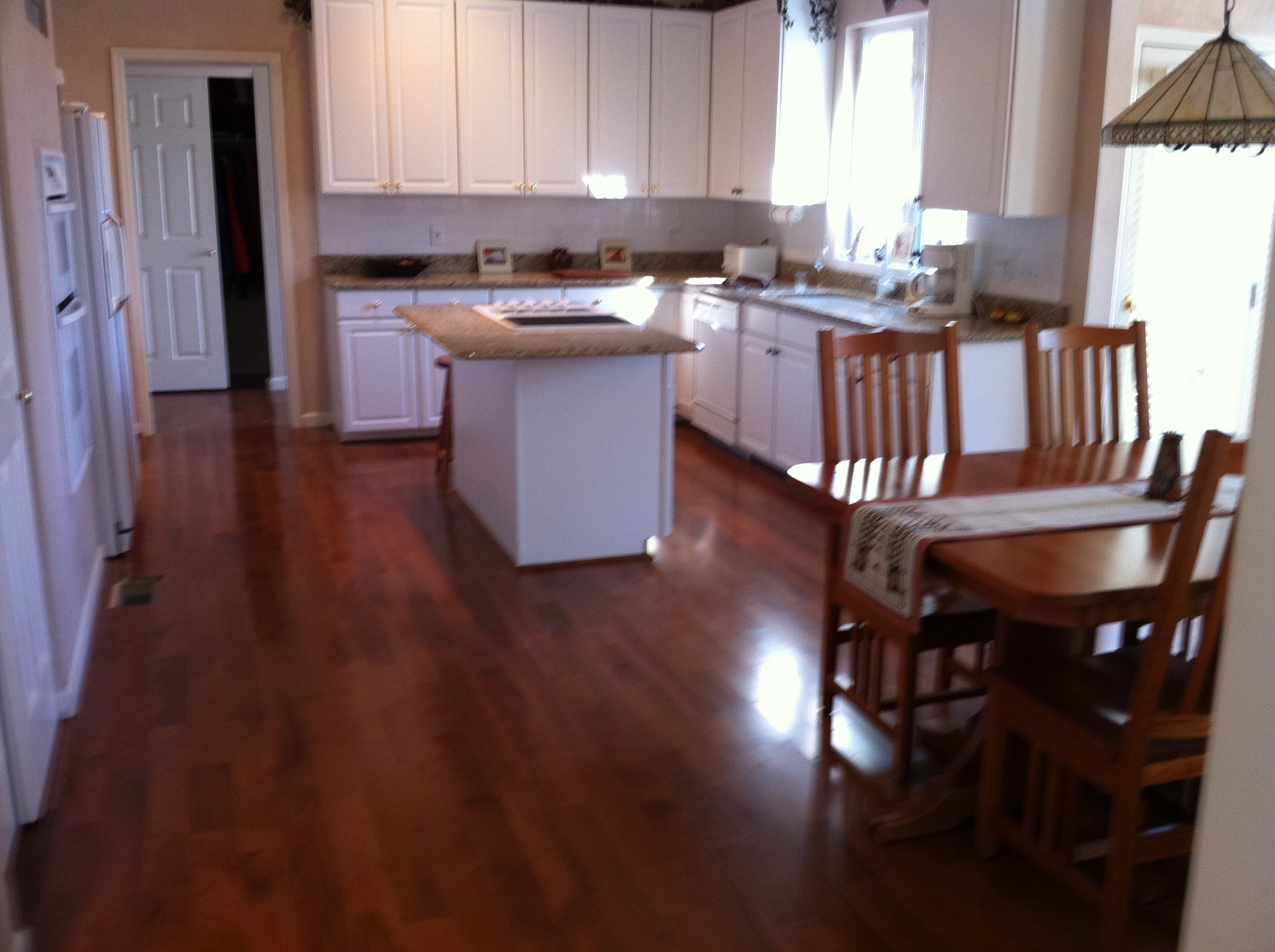 White Cabinets (wood flooring, kitchen cabinets, home ...