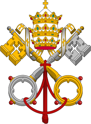 emblem of the Papacy: Triple tiara and keys