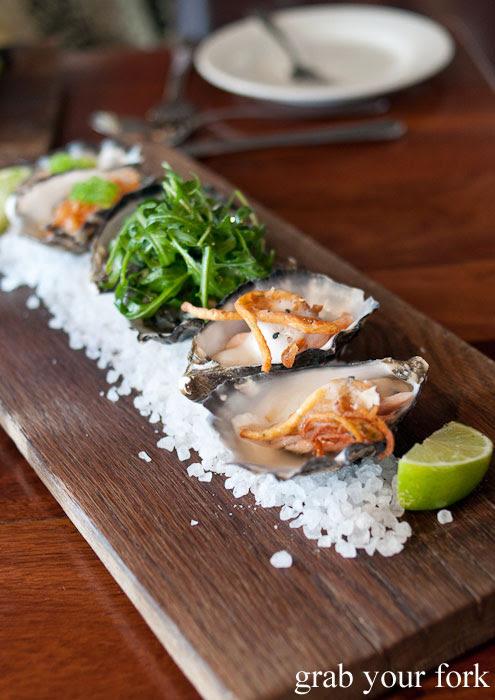 oysters tasting board d'Arrys Verandah Restaurant, McLaren Vale