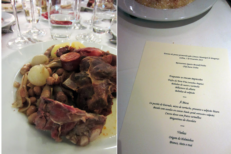 Jantar Festival do Butelo e das Casulas de Bragança