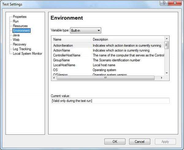 Build-in Environment Variables