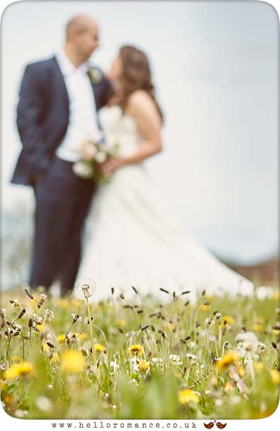 Wedding photography in meadow, Hawstead, Suffolk Barn - www.helloromance.co.uk