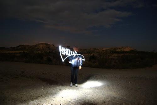 Light grafitti girl