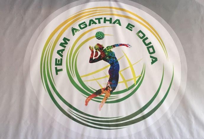 Dupla formada por Ágatha e Duda tem até logotipo (Foto: Gabriel Fricke)