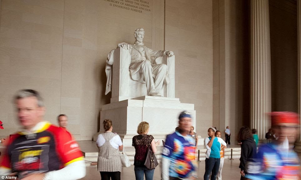 Tourist attraction: Today the Lincoln Memorial is one of the most popular sights for visitors to the U.S. capital
