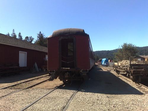 Big Trees Santa Cruz Railroad depot in Felton