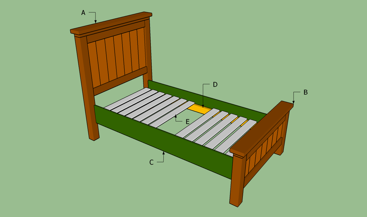 Diy Wood Twin Bed Personal Woodworking Plans And Projects