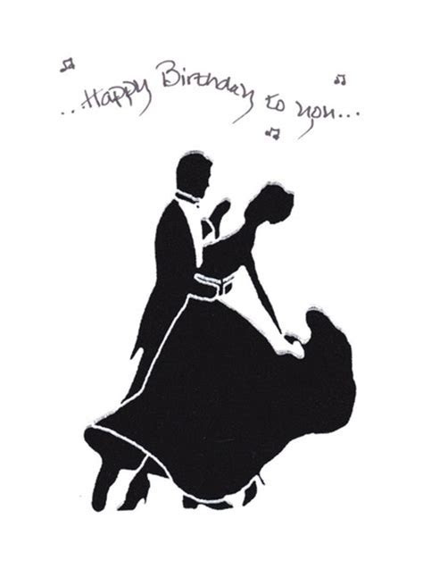 Fabric Ballroom Dancer Birthday greeting card and message