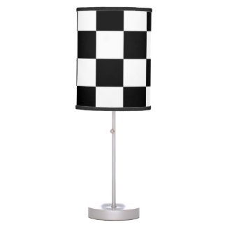 Checkered Black and White Table Lamps
