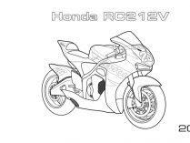 Dibujos De Motos Para Colorear