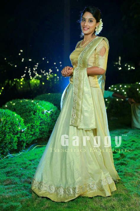 Kerala Bridal Lehenga . Engagement Wear from Garggy