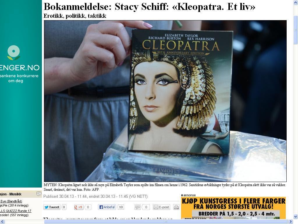 cleopatra løvenbalk