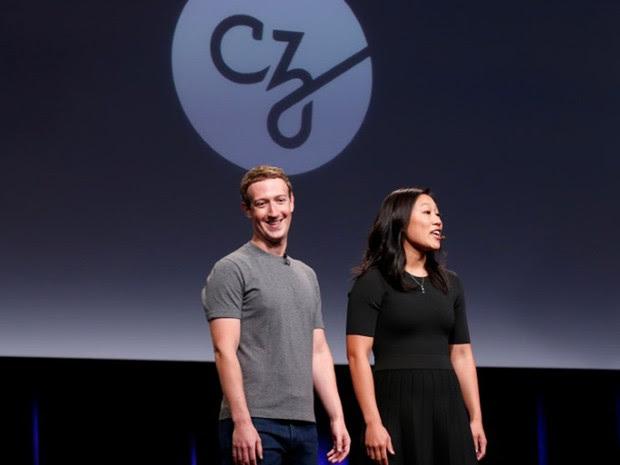 Priscilla Chan e Mark Zuckerberg anunciam iniciativa para curar, prevenir ou lidar com doenças nesta quarta-feira (Foto: Reuters/Beck Diefenbach)
