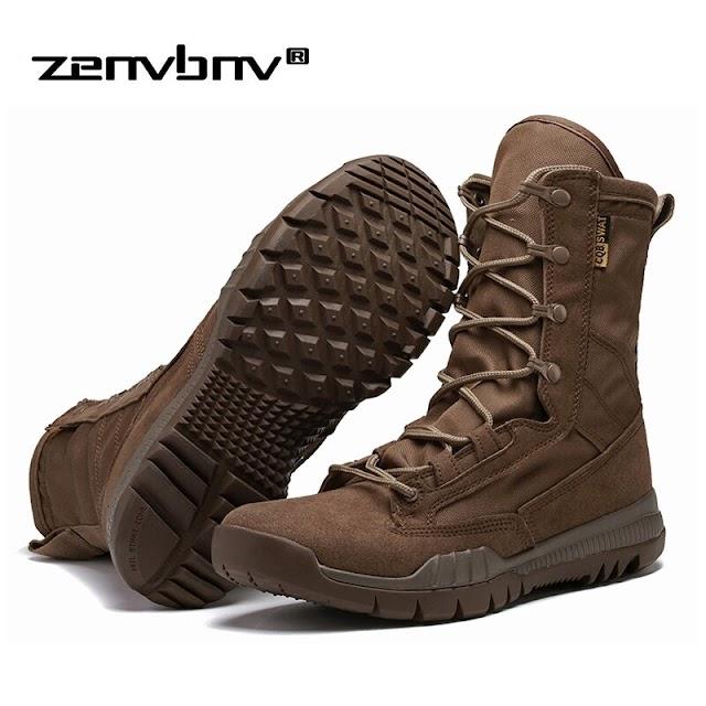 Goede Kopen Mode Outdoor Leger Laarzen Mannen Microfiber Doek Militaire Tactical Combat Boots Zomer Winter Desert Maat 38 45 Goedkoop