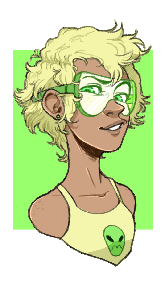Tfw u have homework but instead u draw human!Peridot