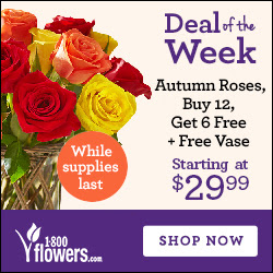 DEAL of the WEEK! Check out all of this week's great deals on Flowers and Gifts at 1800flowers.com! Order Now (offer available only while supplies last)
