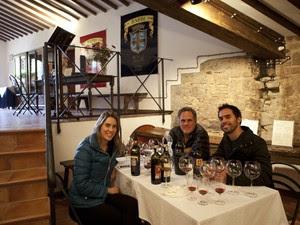 Natália, Horácio e Pedro na Itália, varginha (Foto: World Wine Adventure / Divulgação)