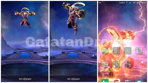 wallpaper menggunakan animasi hero  skin