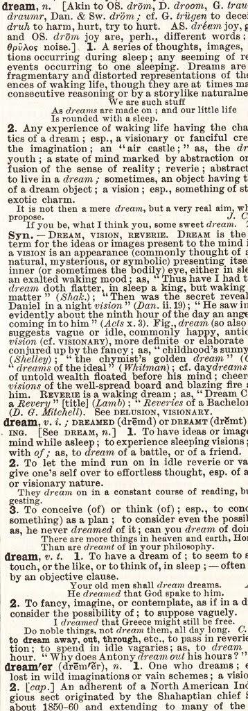 dream dictionary definition d page crop copy