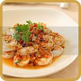 Steamed Prawns with Lemongrass and Kaffir Lime Leaves