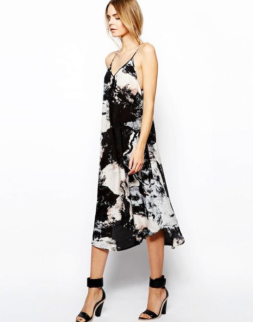 Le Fashion Blog Gimme Gimme Marble Print Dress Side Sleeveless Strappy Midi Dress Aryn K Printed Silk Maxi Dress with Uneven Hem ASOS White Wisdom Leather High Sandal photo Le-Fashion-Blog-Gimme-Gimme-Marble-Print-Dress-Side-2.jpg