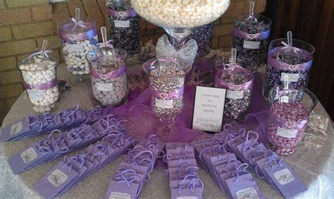 Purple & Silver Candy Buffet   Candy bars   Pinterest   Buffet