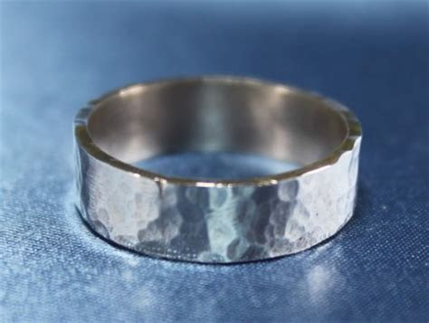 Mens Hammered Silver Ring ? Jewelry Making Journal